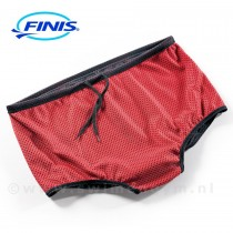 FINIS Drag shorts zwart/rood (andere kant)