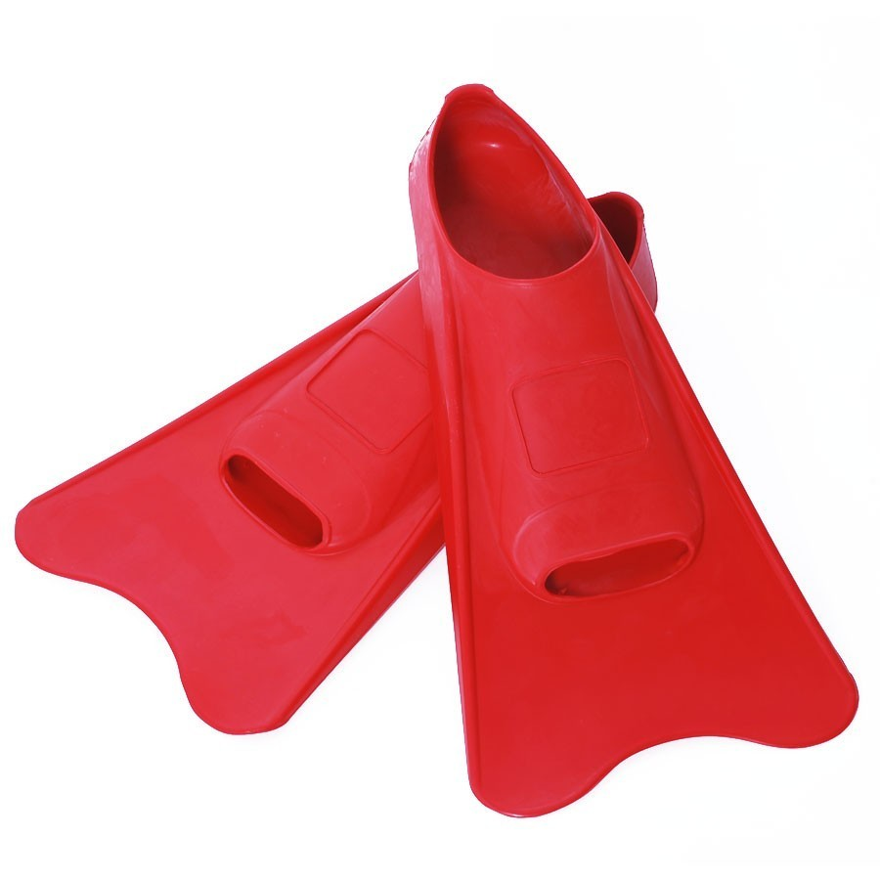 Korte zwemvliezen rubber rood