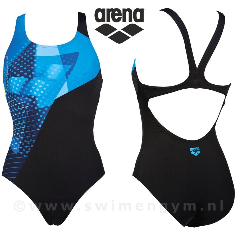 ARENA Himmel dames sportbadpak zwart/blauw