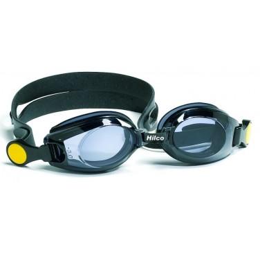 Zwarte montuurringen en zwarte hoofband met gele clip
